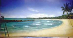 BEACH- scenery for tv commercial by christiano2211