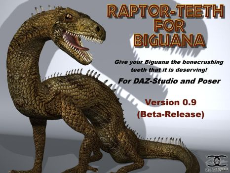 Raptor-Teeth for DAZ Biguana Lizard by ancestorsrelic
