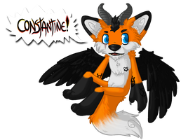 Com - Constantine Chibi SHOUT! badge by Rattus-Shannica