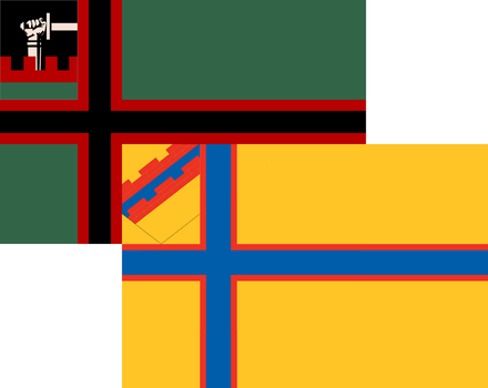 Flags of Karelia and Ingria by Anarchomania