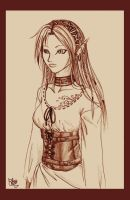Pretty elf girl... by funny-neko