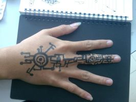 Circuit-Rune Tattoo by The-Spirit-Reaper