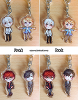 Mystic Messenger Keychains by enzouke