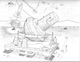 Planetary Defense Cannon by DissidentZombie