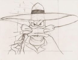 Darkwing Duck Sketch by Arielle-Kasa