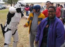 Stormtrooper with kids by Darkside0326