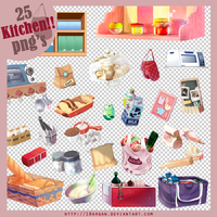 Kitchen!! 25 png's by 18arqan