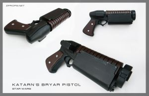 Star Wars Katarn's Bryar pistol (Arkos Version) by zanderwitaz
