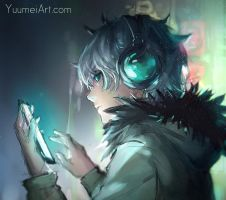A Moment Alone by yuumei
