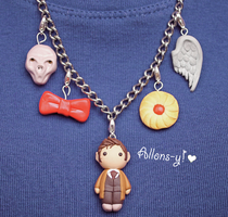 Doctor Who Charm Necklace by PaleMint