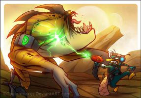 Epic Perry VS Monster by RatchetMario