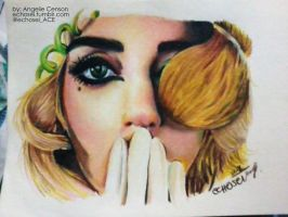 LADY GAGA in Colored Pencil by Echosei
