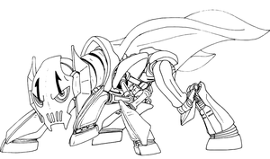 General Grievous ponymorph drawing by decompressor