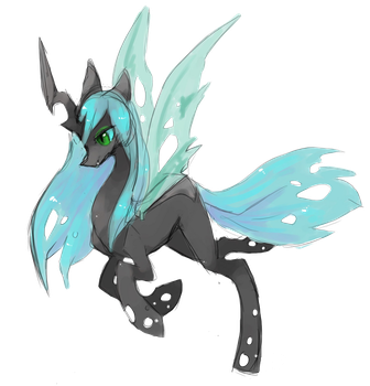 Queen of the Changelings sketch by FireflyLC