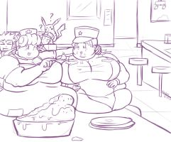 Request 25: lunch with Joy and  Jenny by Oda-Lee
