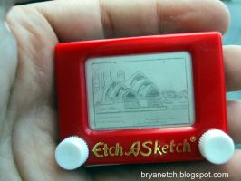 Sydney Opera House Micro Etch by bryanetch