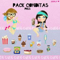 Pack Comiditas Cute para Vectorizar! by JuuhLii