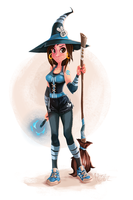 Jumy the Sporty Witch by the-fogz