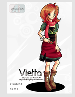Hello my name is Vietta by Adalishu