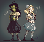 Wicked Glinda and Elphaba by evaYabai