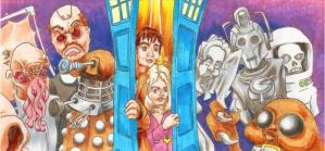 Doctor Who ATC Triptych - Complete by burning-thirteen