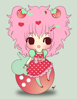 .:Kiriban: Tiny-Strawberry:. by PhantomCarnival