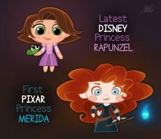 Chibies Disney-Pixar Princess by princekido