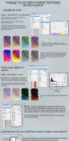 Using my textures in Photoshop: a basic tutorial by hibbary