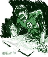 Zombie Green Lantern by mothbot