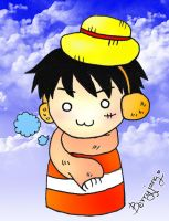 Chibi Luffy Ver.Punk Hazard by berryjang