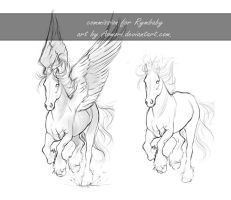 Commmission sketch - Rymbaby by Aomori