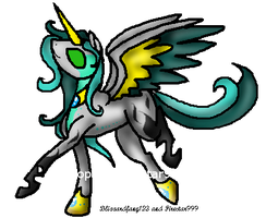 Alicorn-Changeling Hybrid Adopt (NameYourPrice) by Firestar999