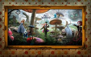 Alice in Wonderland Wallpaper by lasvacasvuelan