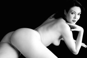 McKenzie Black And White Nude by Snapfoto