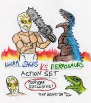 lucha jacks vs derposaurs by CosbyDaf