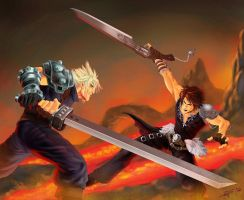 Squall-vs-cloud by donysuwandi