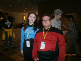 Me and Starfleet Officer by enterprisedavid