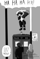 Jumping on a TARDIS by icecheetah