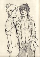 Prince Bubblegum and Marshall Lee by Jasdavi