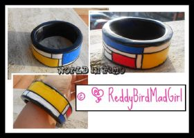 Mondrian Collection: Bracelet 1 by ReddyBirdMadGirl