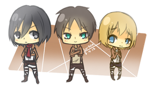 Attack On Titans Chibis 8.4.13 by Lu-tan
