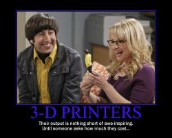 3-D Printers Motivational Poster by QuantumInnovator