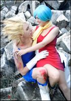 Vegeta and Bulma Cosplay Love by AstronSama