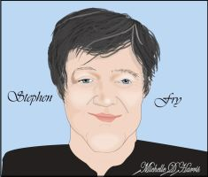 Caricature of Stephen Fry by michelledh