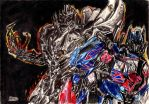 Megatron and Optimus by kill312