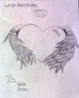 Angel Wings Heart by Emox-Lovez