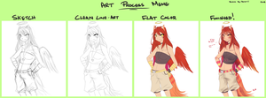 Art Process Meme by Reverrii