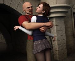 Young Amanda Jones - The Bear Hug Scene 5 by Torqual3D