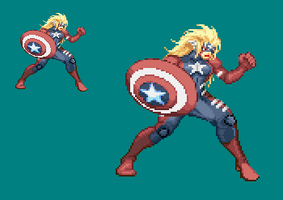 Sprite Work: American Hero by SXGodzilla