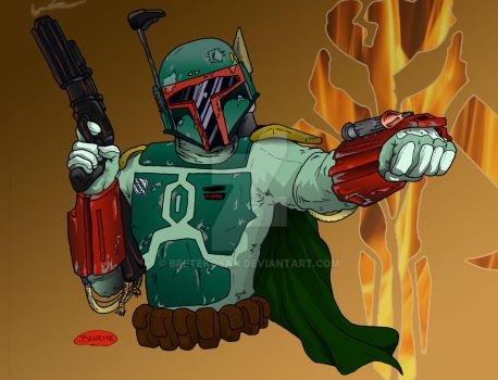 Boba Fett Colored by BreteKosan